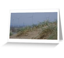 Camber Sands to Romney Marsh Power Fields Greeting Card
