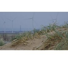 Camber Sands to Romney Marsh Power Fields Photographic Print