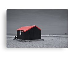 Bleak with a touch of Red Canvas Print