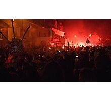 Battel Bonfire Boyes on November 5th in Battle Photographic Print