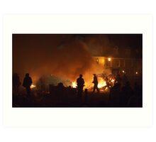 Battle Bonfire 2011 - Sparks on the Green Art Print