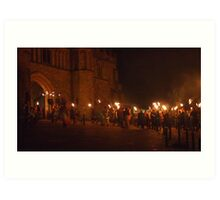 Battle Bonfire 2011 - Entering the Abbey Gates Art Print