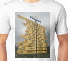 2407 Kilometres to the North Pole. Unisex T-Shirt