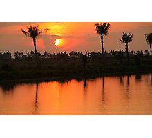 Cambodian Sunset Photographic Print