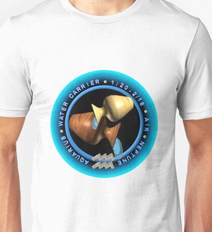 Aquarius zodiac astrology by Valxart Unisex T-Shirt