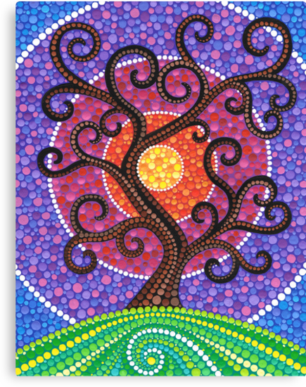 Spiralling Tree of Life by Elspeth McLean