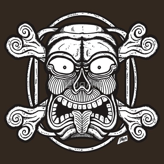 Quot Tiki Skull Quot T Shirts Amp Hoodies By Zugart Redbubble