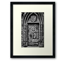 The Door at Conque Framed Print