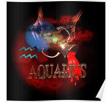 Aquarius zodiac astrology by Valxart poster Poster