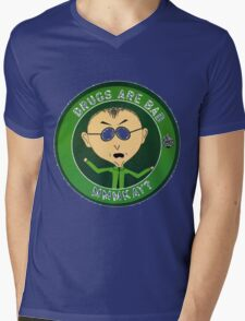 Mr Mackey (drugs are bad) Mens V-Neck T-Shirt