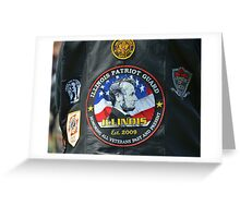 Illinois Patriot Guard Greeting Card