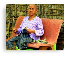 Cambodian Elder Canvas Print