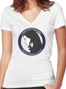 Jones' Alias Investigations Women's Fitted V-Neck T-Shirt