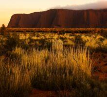Dawn fog at Uluru, Northern Territory, Australia Sticker