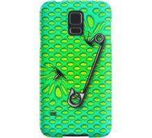 Sookie Skull Safety Pin Green  Samsung Galaxy Case/Skin