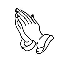 PRAYING HANDS Photographic Print