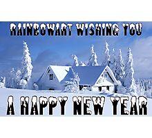 RAINBOWART WISHING YOU A HAPPY NEW YEAR Photographic Print
