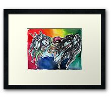 A Colorful Cast Framed Print