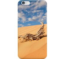 Desert sand dune with blue sky iPhone Case/Skin