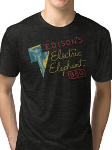 Electric Elephant BBQ Tri-blend T-Shirt