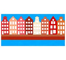 AMSTERDAM CANAL HOUSES Photographic Print