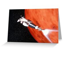 Future Manned Mars Mission in Orbit Greeting Card