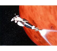 Future Manned Mars Mission in Orbit Photographic Print