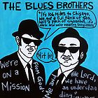 Blues Brothers Blues Folk Art by krusefolkart