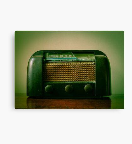 Old Broken Vintage Radio Canvas Print