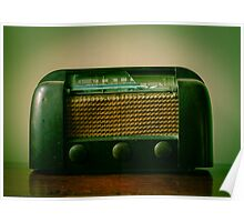 Old Broken Vintage Radio Poster