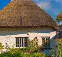 Ireland. Adare. Thatched Cottage. Sticker