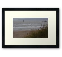 Camber Sands to Fairlight in Winter Framed Print