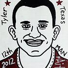 Johnny Manziel Aggie Football Folk Art by krusefolkart