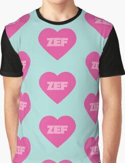 Zef Pattern Pink & Blue Graphic T-Shirt