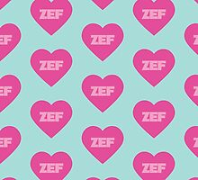 Zef Pattern Pink & Blue by Elys XXI