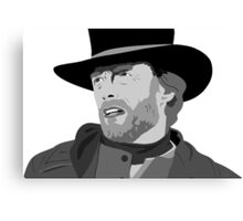 The legend Clint Eastwood Canvas Print