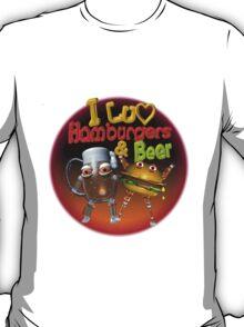 i Love Hamburgers and beer T-Shirt