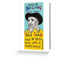 Willie Nelson Country Folk Art Greeting Card