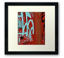 Red Vix Cover Framed Print