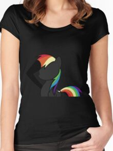 Rainbowdash Super-Neo Women's Fitted Scoop T-Shirt