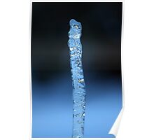 Blue Icicle Poster