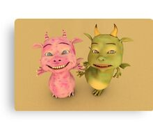 Cute Baby Dragons Canvas Print