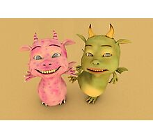 Cute Baby Dragons Photographic Print