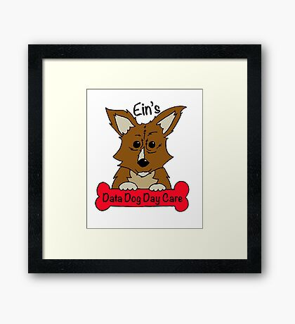 Data Dog Day Care Framed Print