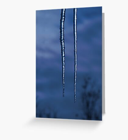Icicles In The Moonlight Greeting Card