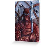 Aquanoid Warrior Greeting Card