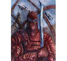 Aquanoid Warrior Photographic Print