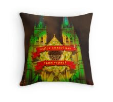 Christmas - St Mary's Cathedral Throw Pillow