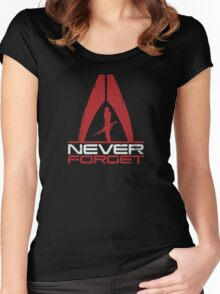 Never Forget: Shep v1 Women's Fitted Scoop T-Shirt
