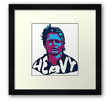 Marty McFly Pop Art Framed Print